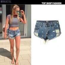ROSICIL denim shorts jeans women summer fashion Blue Vintage Feminino Brand Shorts Lady Casual Short jeans TOP080#