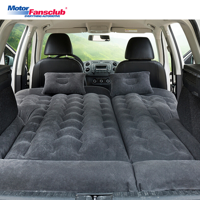 164*132cm SUV Inflatable Car Travel Bed Camping Adjustable Air Mattress Seat Cover Pillow Flocking Cloth Ventilate Outdoor Kids betos car air mattress travel bed auto back seat cover inflatable mattress air bed good quality inflatable car bed for camping