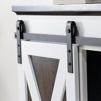 Kinmade J Shape Mini Cabinet Sliding Barn Door Hardware Kit Single Wood Door Closet TV Stand Wall Cupboard Hardware(single door)