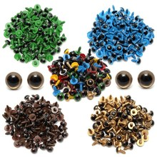Wholesale Cheapest 80Pcs/40Pair 10mm Color-Mix Plastic Safety Eyes for Teddy Bear Stuffed Toy Snap Animal Puppet Doll Craft DIY