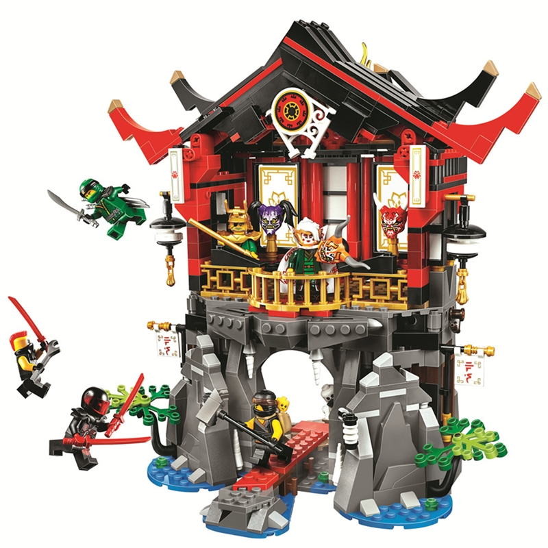 11.11 PRE-ORDER Ninjagoed Temple of Resurrection Building Blocks Kit Ninja Classic Movie Model Kid Toys Gift Compatible Legoings 1326pcs ninjaos temple of ninjagoes blocks set toy compatible with legoings ninja movie building brick toys for children