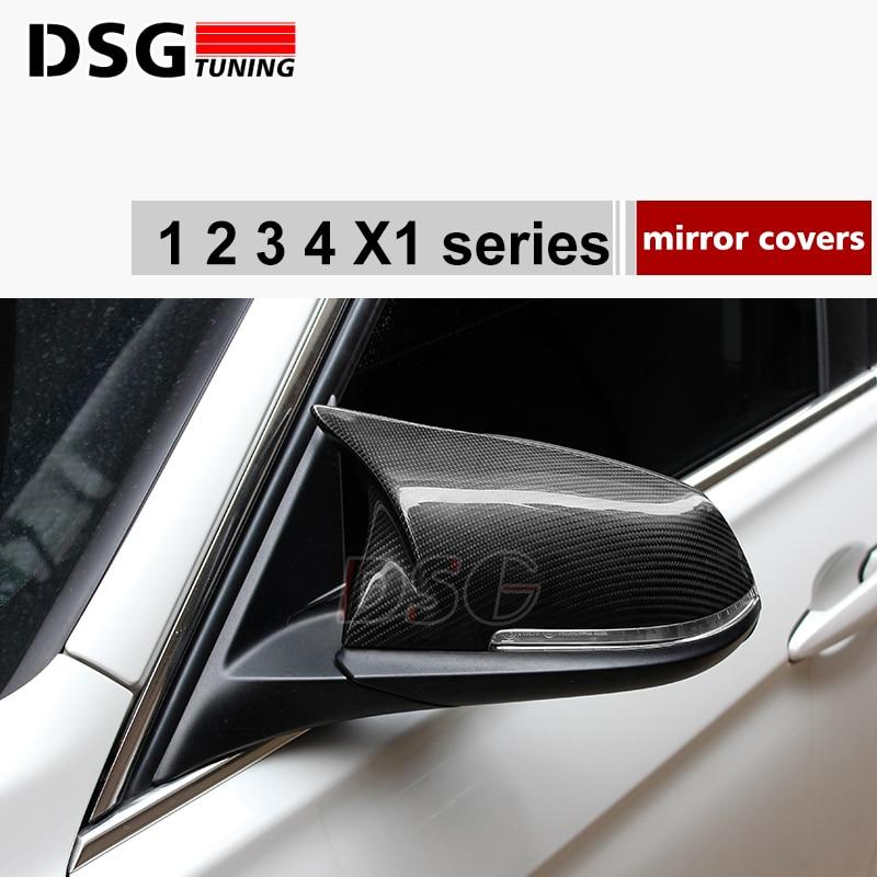 2Pcs Carbon Fiber Mirror Cover M Performance BMW F20 F22 F30 F31 F35 F34 F32 F33