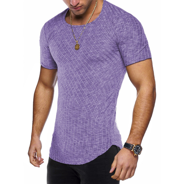 Round Neck Fitted T Shirt 10