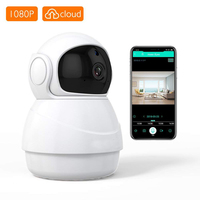 Kruiqi Wireless Security Camera 1080P WiFi IP HD Baby/Pets Monitor with Two Way Audio, Phone APP Remote Access Motion Detection