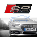 1 x Universal 3D S6 Logo Car Styling Front Hood Grille Emblem Badge Stickers for Audi