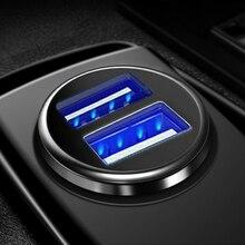 Автомобильное зарядное устройство Mini Dual USB для телефона 5 в 3.1A автомобильное зарядное устройство адаптер Автомобильное зарядное устройство для мобильного телефона планшета 2 порта автомобильное зарядное устройство