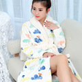 A26Winter robe Flannel night gown bathrobe men and women warm thickening home Womens pajamas bathrobe Dressing gowns for female