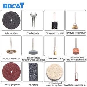 Image 5 - Bdcat 220 v dremel 電動彫刻ミニドリル研磨機可変速回転工具と 186 個電動工具アクセサリー
