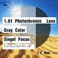 Índice de 1.61 Lentes Fotosensibles Gris Lente de la Prescripción de Lentes De Colores de Ojos para Los Ojos Miopía Lente lentes Transitions opticos