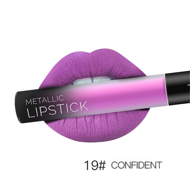 NEW 24 Colors Long Lasting Metallic Lip Gloss Red Velvet Matte Nude Liquid Lipstick Cosmetic Lips Makeup Women Gift Maquiagem 30