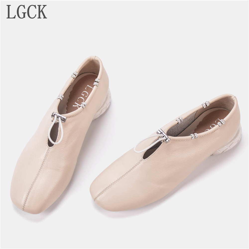 Plus Size 34 42 Genuine Leather Women Shoes Autumn Loafers Flats Flat Shoese Luxury Brand For Shoe Ladies Scarpe Oxford Low Heel in Women 39 s Flats from Shoes