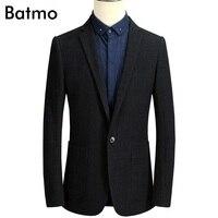 2017 new arrival mùa xuân màu đen blazer men casual Linen & cotton Kinh Doanh màu xanh blazer áo cộng với-size M, L, XL, XXL, XXXL 715