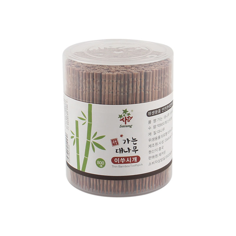 800 Pcs/lot Disposable Toothpick Natural Bamboo Dental Carbonated Wood Toothpick For Home Restaurant Products Toothpick Tools(China)