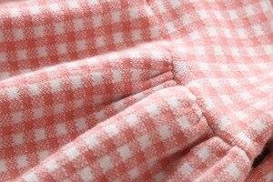 Image 5 - 女の赤ちゃんドレス秋冬ニットベビードレスチェック柄長袖クリスマス誕生日の幼児コットンベビー服