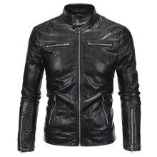 Plus Size XXXXXL Mens Leather Automotive Jacket Coats Punk Style Winter Mens Leather Suede Coats Designer Mens PU Jackets C090