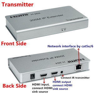 Image 2 - 1080P HDMI Extender Transceiver Adapter200m 1TX:NRXs CAT5e/6 LAN RJ45 cable Lan Connector IR Control For DVD CCTV Free Shipping
