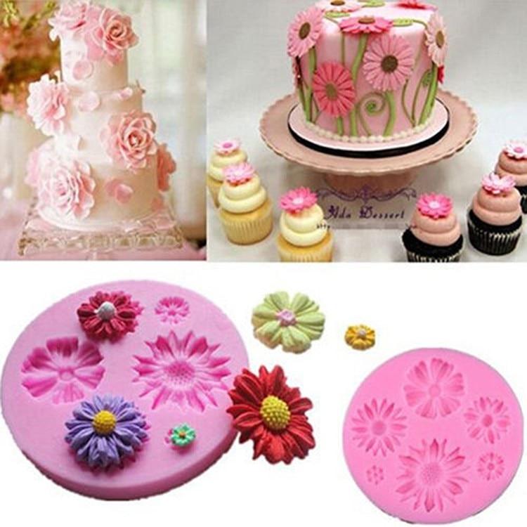 3D Lily Flower Cake Mold Fondant Cake Mould Sugar Craft Decoration DIY Tools