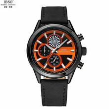 2016 Hot Sale IBSO BOERNI AIBISINO Round Dial Imported Movement Analog Wrist Watch With Waterproof & Leather Band For Unisex