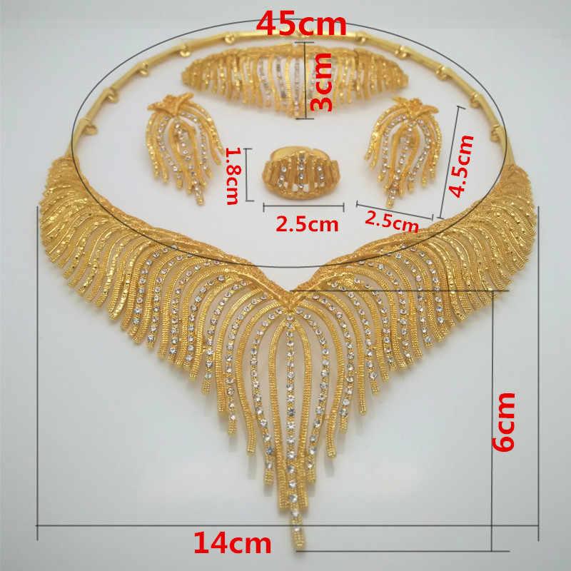 Fashion Kingdom Ma jewelry set Nigeria Dubai gold-color African bead jewelry wedding jewelry set African Bridal Wedding Gifts