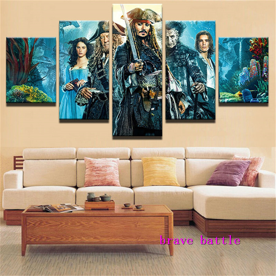 Pirate Ship Jack Canvas Painting Living Room Home Decor