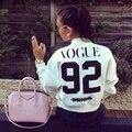 Harajuku Письмо Vogue92 Печатных Бейсбол Пальто Зима Теплая Куртка Doudoune Femme Chaquetas Mujer