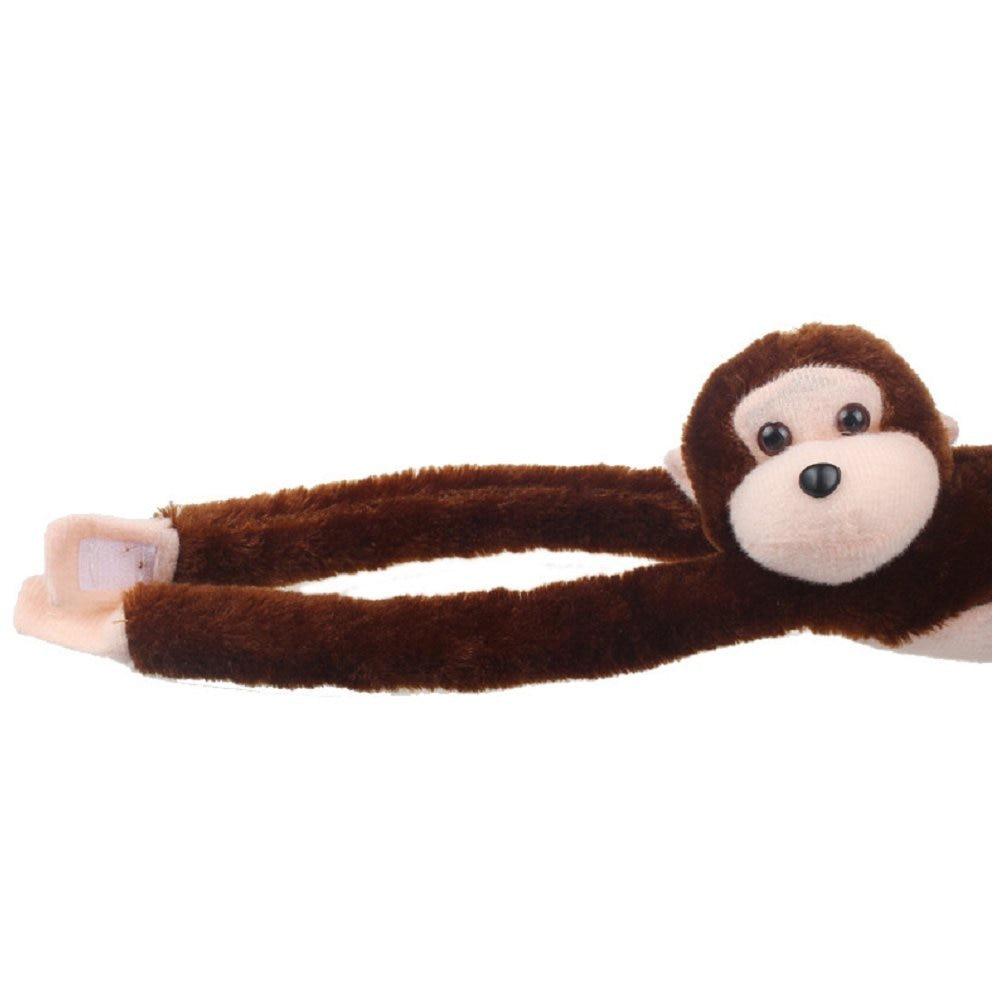 New Cute Screech Gibbon Monkey Plush Doll Toy Sound Children Christmas Gift (coffee)