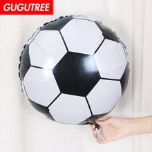 Decorate Home 18inch black white blue red football foil balloon wedding event christmas halloween festival birthday party HY-29