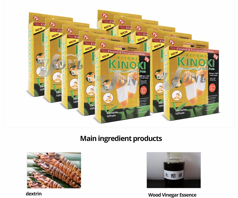 Retail Box Gold Premium Kinoki Detox Foot Pads Cleanse Energize Your 10 Ginger Getsubject Aeproduct