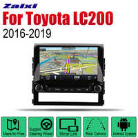 ZaiXi Auto Radio 2 Din Android Car DVD Player For Toyota Land Cruiser LC200 2016~2019 GPS Navigation BT Wifi Map Multimedia