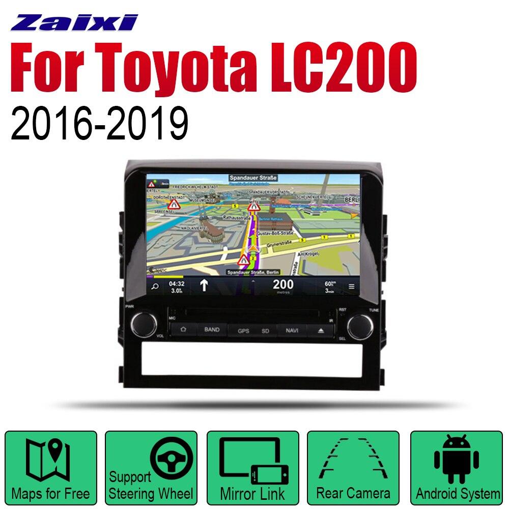 ZaiXi Auto Radio 2 Din Android Car Lettore DVD Per Toyota Land Cruiser LC200 2016 ~ 2019 di Navigazione GPS BT wifi Mappa Multimedia