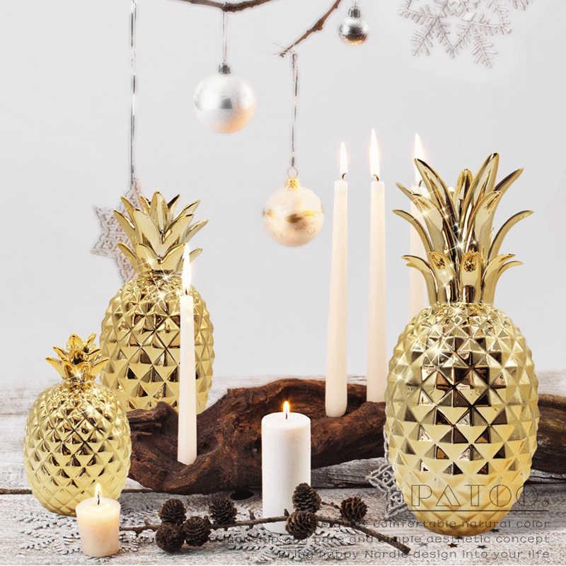 Golden Pinele Figurines Ceramic