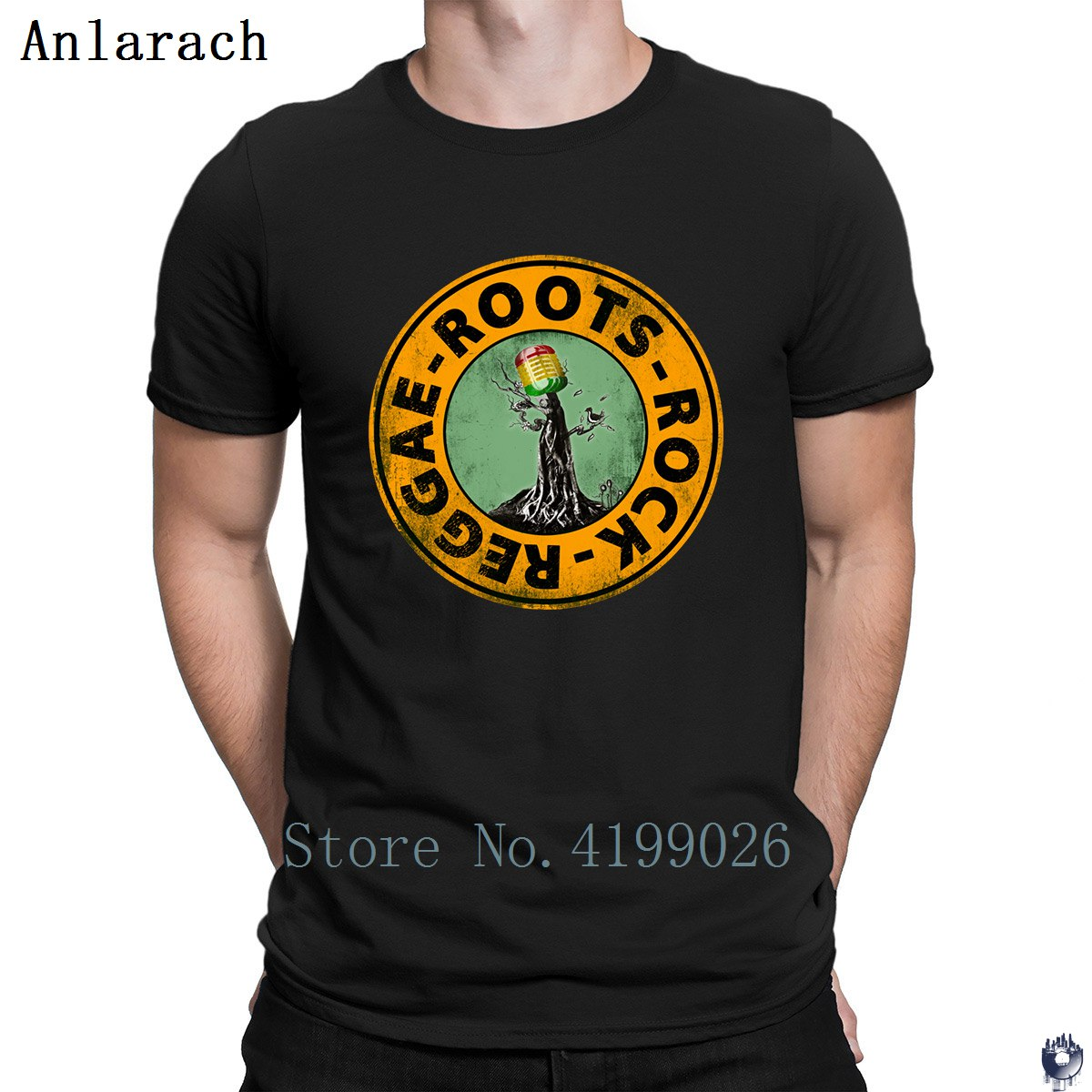 Image 2 - Roots Rock Reggae. t shirts Euro Size Pop Top Tee Basic Solid men's tshirt Designing High quality summer Anlarach New Style-in T-Shirts from Men's Clothing
