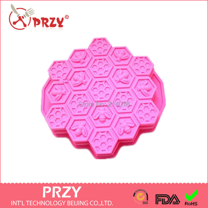 Bee Honeycomb modelling Cake mold Jelly pudding According to the font b food b font safety