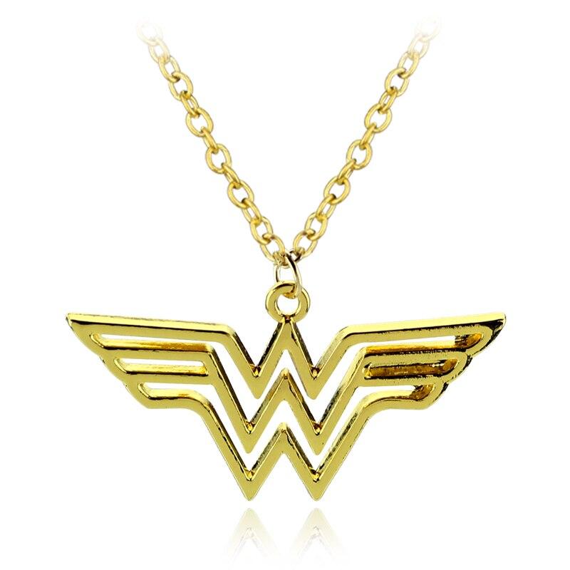 Прохладный DC Super hero Wonder Woman Super hero Супергерл логотип Сплав Подвеска Цепочки и ожерелья подарок для Для женщин очарование аксессуары фильм юве...