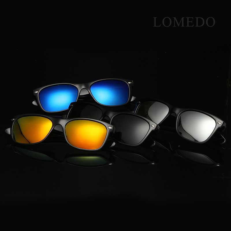 eaf4642cdb4f LOMEDO Retro Wayfarer Polarized Sunglasses UV400 Protection Mirrored Lens  Classics Sun Glasses for Men and Women Fashion Eyewear-in Sunglasses from  Apparel ...