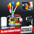 Lepin 07048 124 unids Genuino Nueva Serie de Películas de Batman The Joker Globo Conjunto de Escape 70900 Bloques de Construcción Ladrillos de Juguetes Educativos