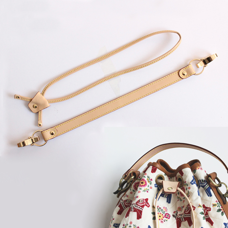 YESIKIMI Bag Accessories Straps Drawstring For Bucket Bag Good Quality Genuine Leather Gold Hook Bag Strap For Luxury Bag