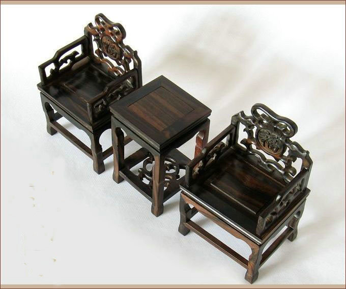 Aliexpress  Buy Ming Qing Furniture Miniature Wenge Wooden Chairs and  Tea Table Antique Technique Chinese Wood Sculpture Private Collection from  ...