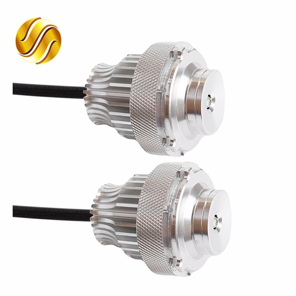 flytop 2 Pieces(1 Set) 2*10W 20W LED Marker Angel Eyes for CREE LED Chips White for E60 E61 LCI Halogen Headlight