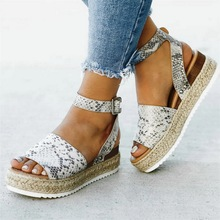 44103924 WENYUJH marca sandalias de Mujer Zapatos de tobillo de Punta abierta zapatos  de paja de fondo