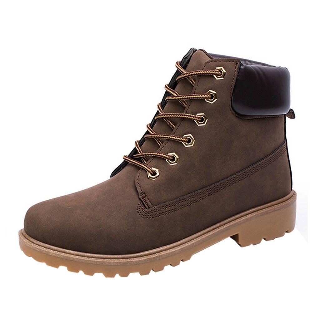 Moda A Tornozelo Qualidade Outono d Forrado Masculino Pele Sapatos Alta Botas Mornas Homem Marca Vintage Casuais c Martin Do Inverno De b OqExnCU0wC