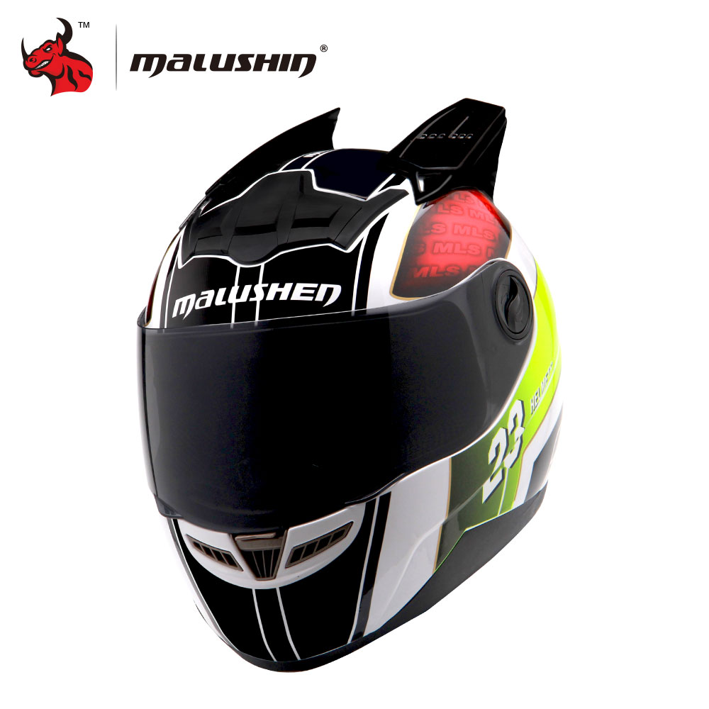 MALUSHUN Men/women Cascos Para Moto Flip Up Motorcycle Helmet Full Face Racing Helmets Capacete Casque Personality Moto Capacete nenki motorcycle helmets motocross racing helmet motorbike full face helmet capacete de moto for men and women 13 color