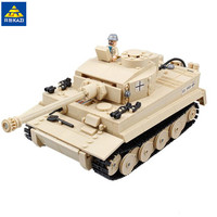 KAZI 995pcs Century Military Panzer King Tiger Tank Building Blocks Brick Toy 82011