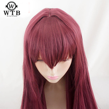 WTB Synthetic  Scathach Cosplay Wig Fate/Grand Order Costume Play Wigs Halloween Costumes Hair High temperature wire material