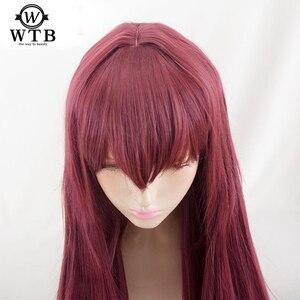 Image 1 - WTB peluca sintética de Scathach para Cosplay, disfraz de Fate/Grand Order, pelucas de juego, Disfraces de Halloween, cabello, material de alambre de alta temperatura