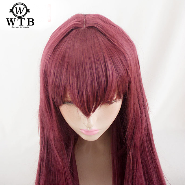 WTB peluca sintética de Scathach para Cosplay, disfraz de Fate/Grand Order, pelucas de juego, Disfraces de Halloween, cabello, material de alambre de alta temperatura