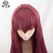 WTB sentetik Scathach Cosplay peruk kader/Grand sipariş kostüm oynamak peruk cadılar bayramı kostümleri saç yüksek sıcaklığa dayanıklı kablo malzemesi