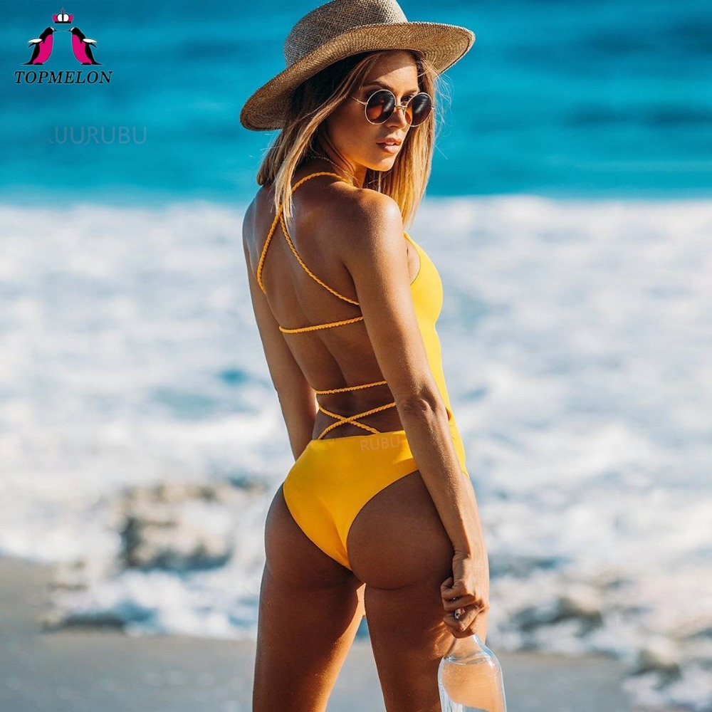 TOPMELON Bikini 2018 Swimwear Women Swimsuit Push-up Bikinis monokini zaful Swimwear biquini cintura alta