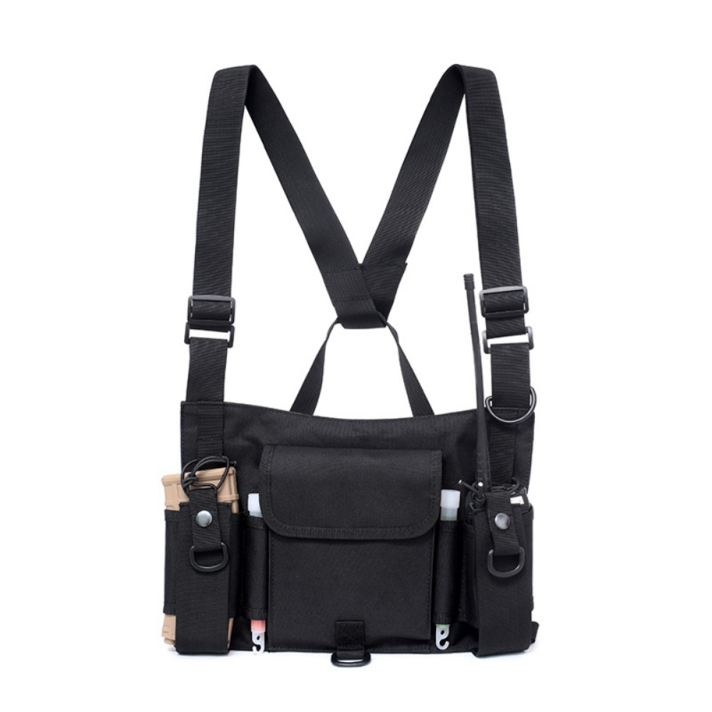 Holster Tactical Pouch Chest-Rig-Bag Front-Pack Hunting for Vest Radio-Harness Walkie-Talkie