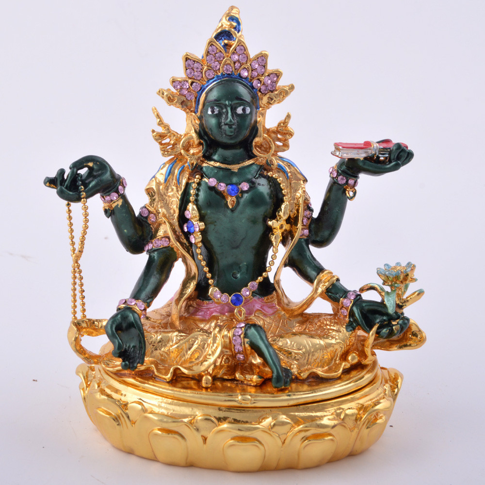 buy bejeweled green tara savior goddess statue 2015 feng shui statues for. Black Bedroom Furniture Sets. Home Design Ideas